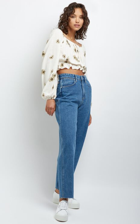 Hastings Top in Ivory Floral
