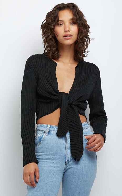 Leandra Knit Top in Black