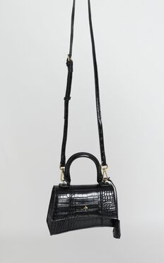 Peta and Jain - Brandy Mini Bag In Black Croc