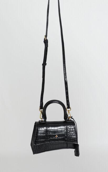 Peta and Jain - Brandy Mini Bag In Black Croc, , hi-res image number null