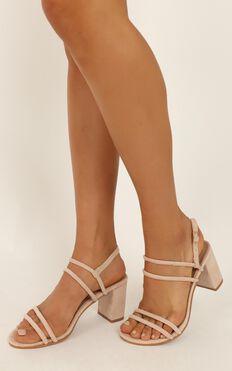 Billini - Fawn Heels in blush micro