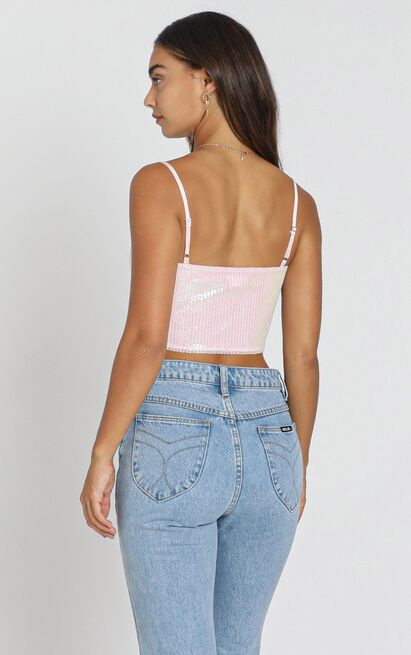 Touch Of Love Top in Blush Sequin - 8 (S), Blush, hi-res image number null
