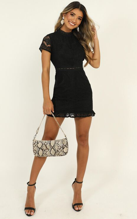 Everything Is Fabulous Dress In Black Lace