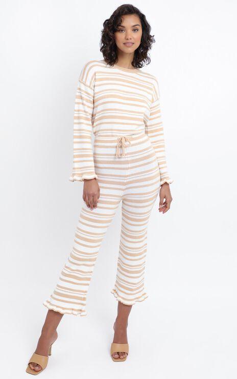 Denisa Pants in Peach Stripe