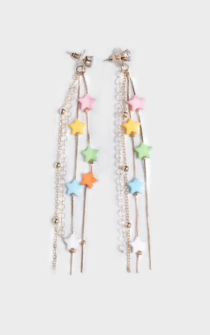 South Coast Star Drop Earrings In Multi Colour, , hi-res image number null