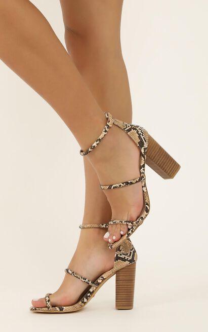 Billini - Marlie Heels In camel snake - 5, Camel, hi-res image number null