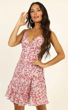Steaming Up Dress In Pink Floral