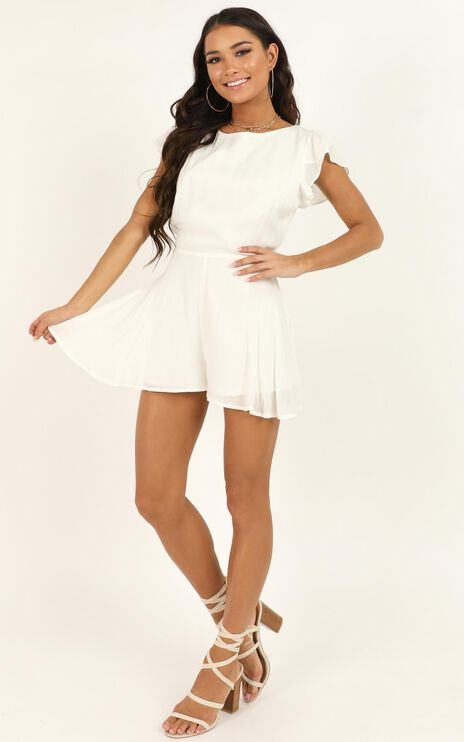 Fortunate Love Playsuit In White