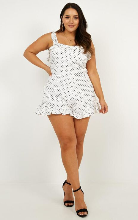 Energy And Creativity Playsuit In Black Spot