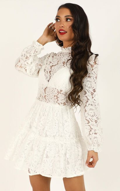 Listen Before I Go dress in White Lace- 20 (XXXXL), White, hi-res image number null