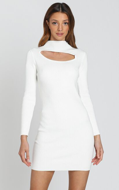 Elisia Dress in White - S, White, hi-res image number null