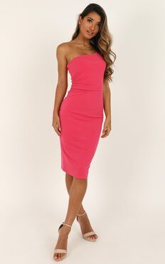 Got Me Looking Dress In Pink