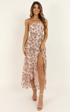 Be Good At It Dress In Off White Floral