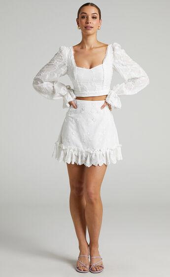Carosa Skirt in White