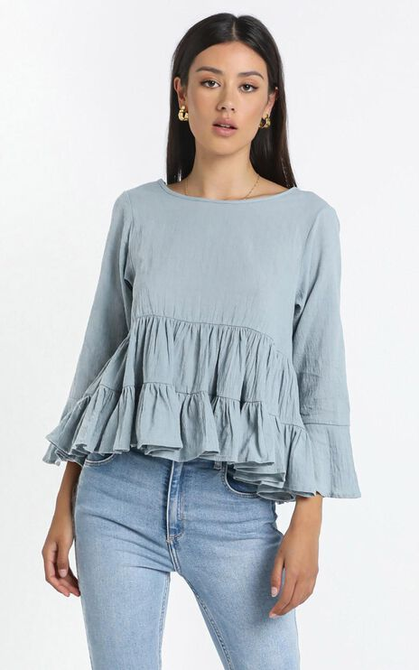 Cleveland Top in Blue