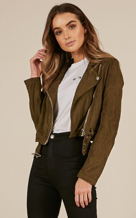Problem Solved Biker Jacket In Khaki