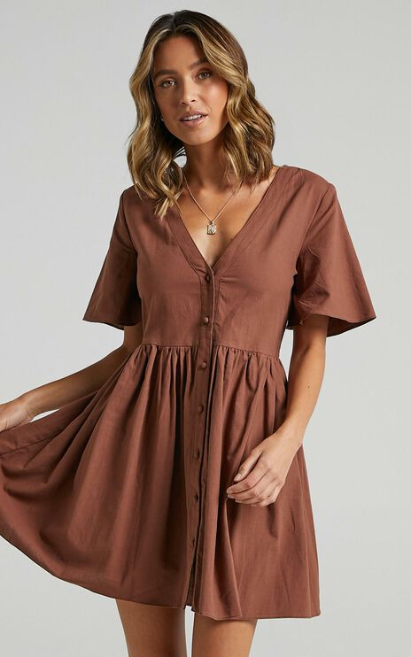 Staycation Dress in Chocolate