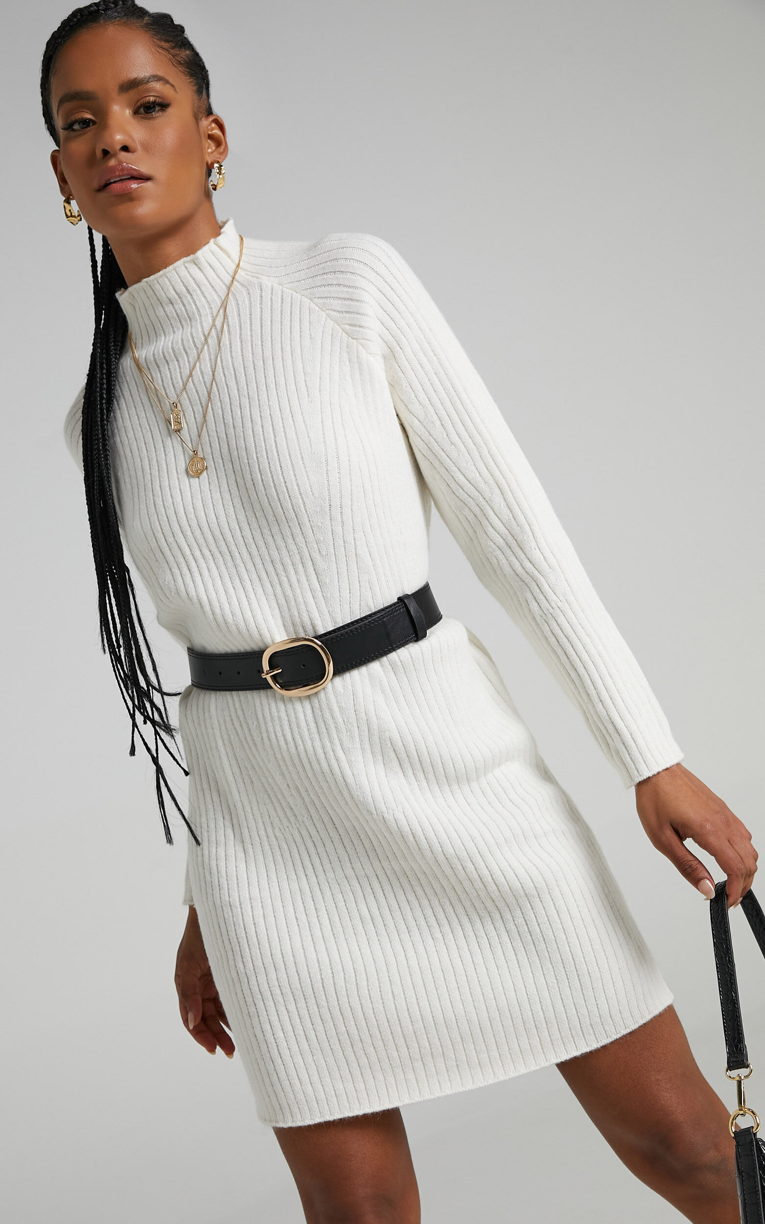 Shantelle Knit Dress in Cream - L/XL, CRE1, super-hi-res image number null