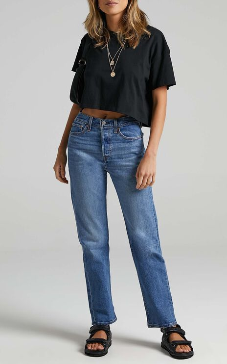 Levis - Wedgie Straight Jean in Jive Sound