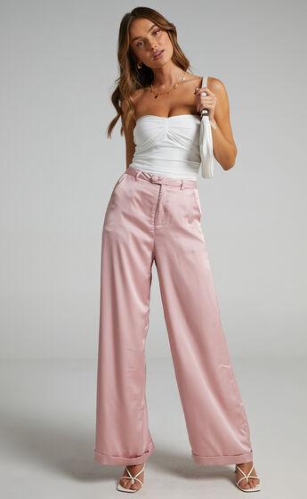 Ailbe Pants in Blush Satin
