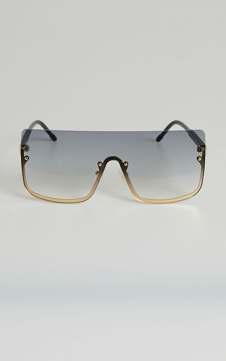 North Side sunglasses in black and gold