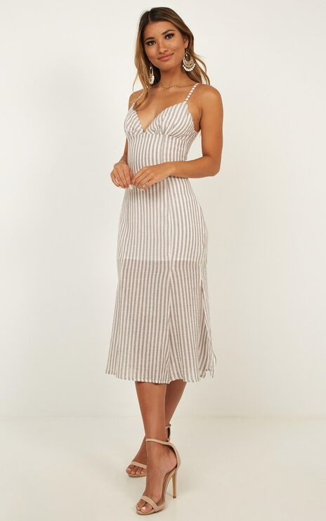 Sly Love Dress In Brown Stripe