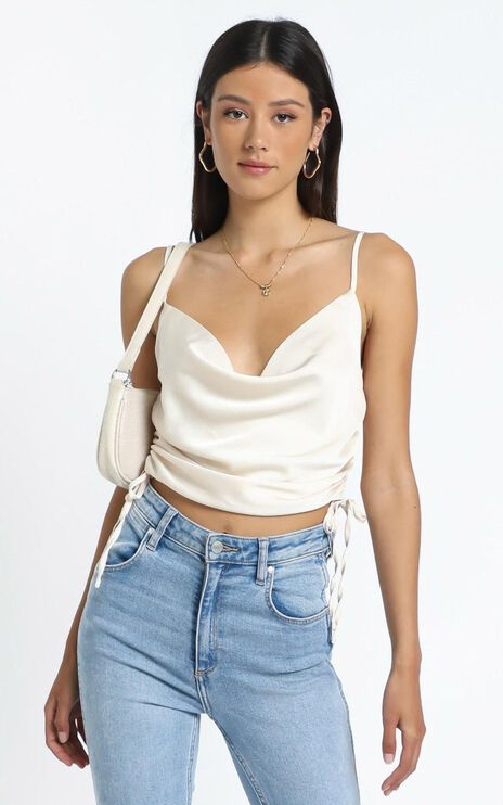 Gilana Top in Champagne