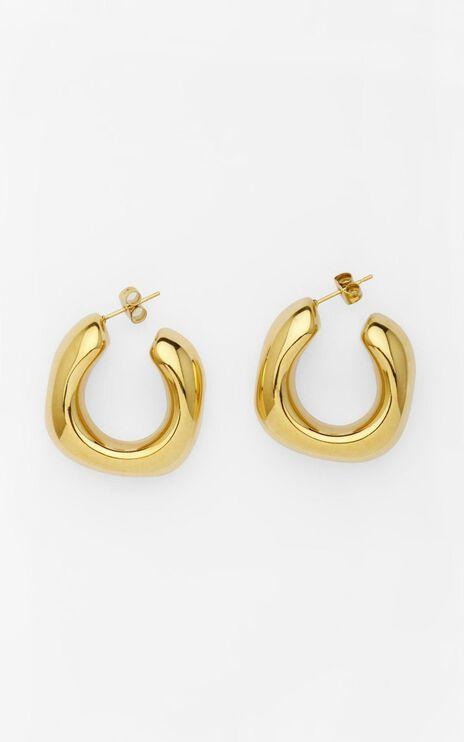 Reliquia - Trending Upwards Hoops in Gold