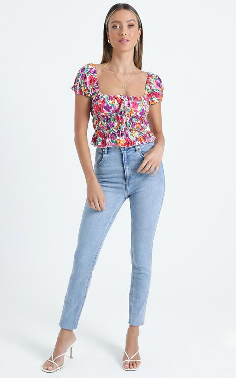 Gimme Top in Packed Floral