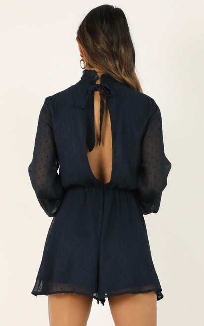 Dark Skies Playsuit in navy - 20 (XXXXL), Navy, hi-res image number null