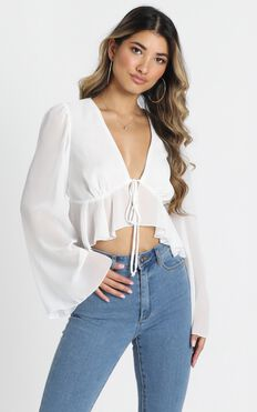 Dance It Out Top In White