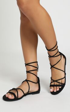 Billini - Dhana Sandals In Black Micro