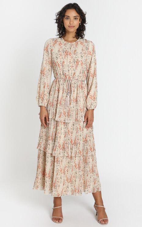 Arianna Dress in Beige Floral