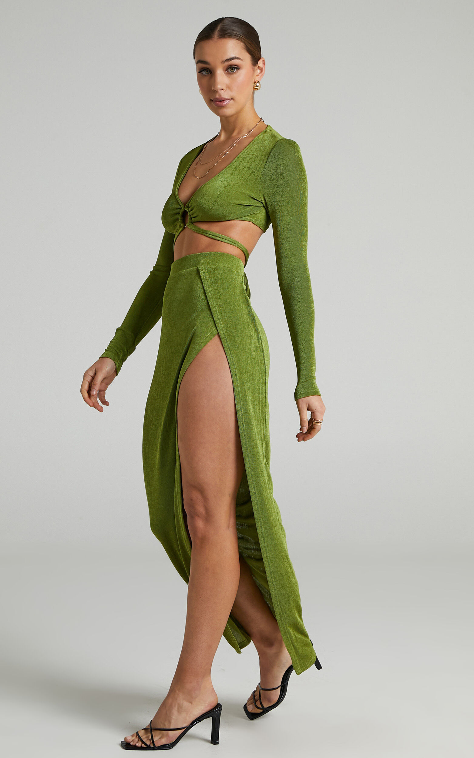 Runaway The Label - Meile Maxi Skirt in Grass - L, GRN1, super-hi-res image number null