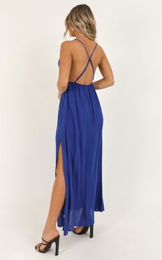 Electric Aura Dress In Cobalt Blue