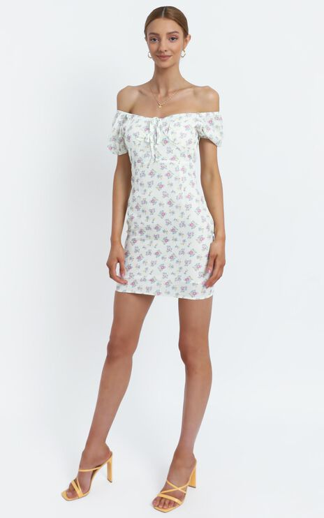 Suzie Dress in White Floral