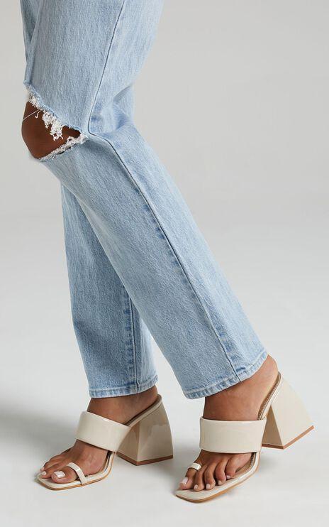 Public Desire - Caden Heels in Cream Patent