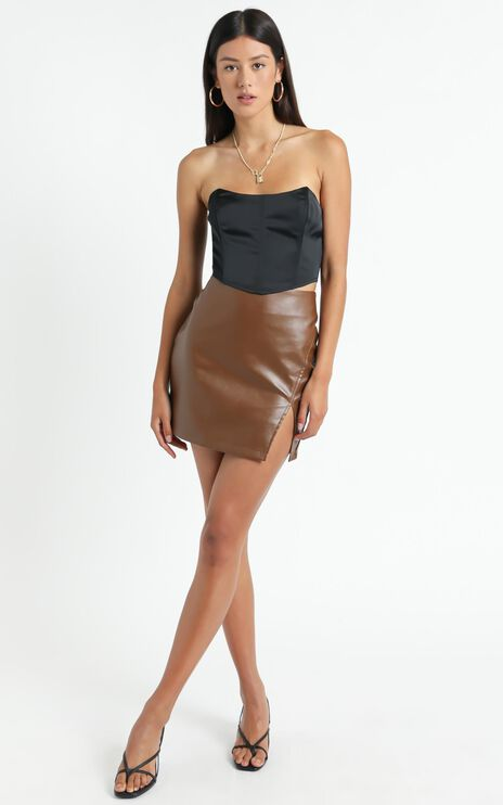 Boy Better Know Corset Top In Black