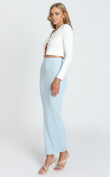 Jessie Knit Skirt in Blue