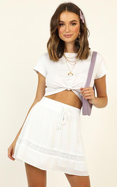 Let Summer Begin skirt in white - 20 (XXXXL), White, hi-res image number null