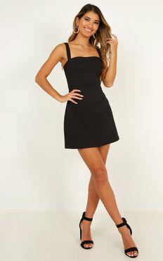 Rising Fame Dress In Black