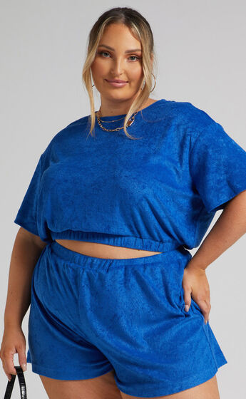 Broditha Crew Neck Top in Blue