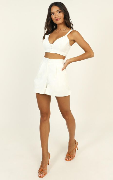 All the moves Two Piece Set in White