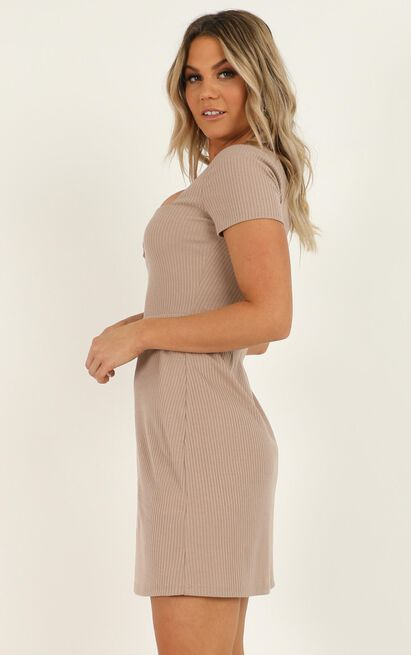 Speeding ahead Dress in mocha - 20 (XXXXL), Mocha, hi-res image number null