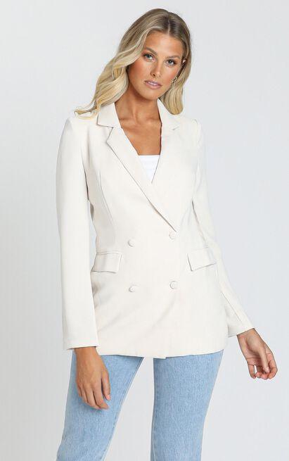 Corporate Vision Blazer in cream - 14 (XL), Cream, hi-res image number null