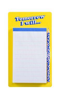 YES Studio: Fridge List Pad - Tomorrow I Will