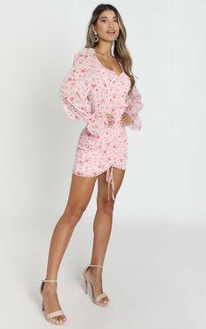 Propaganda Dress in Pink Floral