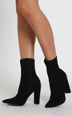 Billini - Xavier Heels in Black Micro