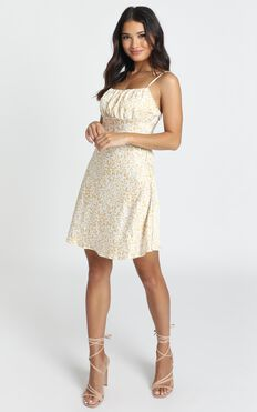Found It First Dress In Yellow Leopard