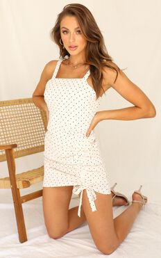Love So Sweet Dress In White Spot